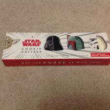 Williams Sonoma Star Wars Cookie Cutters Yoda Darth Vader StormTrooper Boba Fett