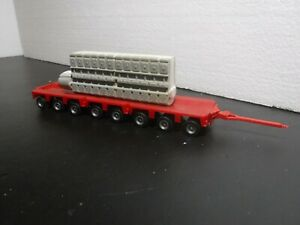 Herpa HO 1/87 Scale Heavy Haul Load Trailer 8 axle with Motor Engine Load