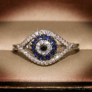 2Ct Round Cut Blue Sapphire Cluster Halo Engagement Ring 14K White Gold Finish