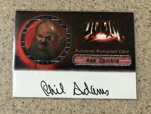 2005 Artbox Doom Movie Phil Adams as Axe Zombie Auto Autograph Trading Card #3