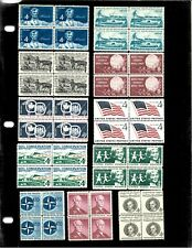 Mint USPS Postage - 23 Blocks of 4 stamps each - 3-8 cents - MNH