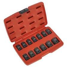 """Sealey impacto Socket Acero Conjunto de herramientas 13pc 1/2 """"cuadrados de unidades en total-ak5613td"""
