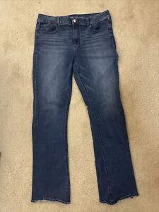 AE American Eagle Artist Super Stretch Denim women jeans Size 16 Long