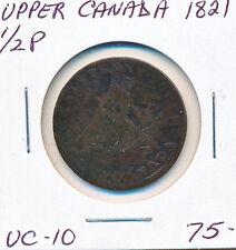UPPER CANADA HALF PENNY TOKEN UC10 1821