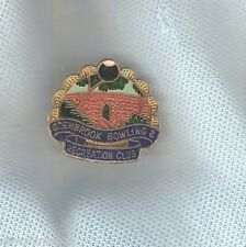 GLENBROOK  BOWLING CLUB LAPEL BADGE, BRIDGE THEME