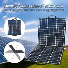 50W Portable Solar Panel Flashfish Foldable Solar Charger 5V USB 18V DC Output