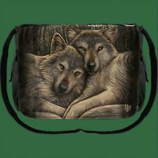 Gothic Wicca Pagan Hexe Magier Tasche Messenger Bag Wolf Wölfe