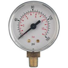 "AIR-PRO/HY-FITT Manómetros - 0-200psi PSI 50mm ABS Medidor 1/4"" BSPT Bott"