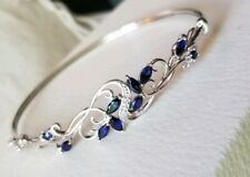 b10b2e162cca85 Kay Jewelers Kays sterling silver Blue Sapphire scroll flex bangle Bracelet