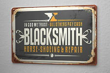 Tin Sign Professional Guild Blacksmith Vintage