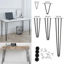 4x Hairpin Legs Metal Hair Pin Feet For Table Chair Cabinet Stool Furniture DIY