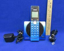 VTech Cordless Telephone CS6919-15 Metallic Blue Cords Full Duplex Used Works