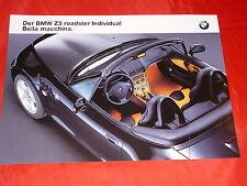 BMW Z3 roadster Individual Bella macchina Prospektblatt von 2000