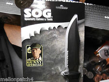 """A SOG M37N, A  9 """" SEAL PUP FIXED BLADE KNIFE WITH A MILTARY GRADE NYLON SHEATH"""