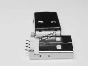 10PCS USB Type-A 4Pin Male Panel Mount SMT Connector