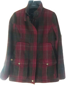 BNWT Joules Field Coat Red Tweed - Size 8