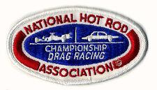 vtg Hot Rod patch NHRA National Championship Drag Racing Racer Association