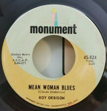 Roy Orbison Monument 824 MEAN WOMAN BLUES / BLUE BAYOU /  PLAYS VG++
