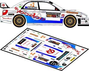 DECALS 1/43 SUBARU IMPREZA WRC - #2 - JENNINGS - RALLYE ULSTER 2012 - D43115