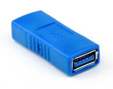 Female to Female USB 3.0 Type A Connector Changer Adapter Coupler - Blue New