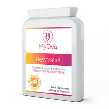 MyOva TRANS RESVERATROL MAX STRENGTH 500mg 90 Capsules Antioxidant Supplement