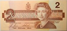 Gem UNC Canada 1986 $2 Bonin-Thiessen paper money Bank Notes Consecutive SNs