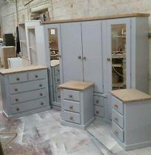 Handmade Ayury Next Grey Mid Oak 4 Piece Bedroom Set Not Flat Pack Furniture Sets Ebay