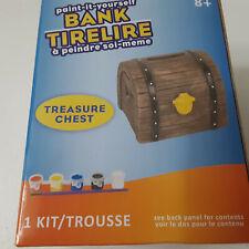 New ListingTreasure Chest Ceramic Bank Painting Set Kids Paints Paint Brush Arts & Crafts