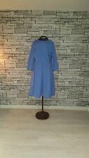 Size UK 14 EU 42 HOBBS Powder Blue Lavender Pleat Swing Work Formal Party Dress