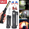 US Rechargeable COB LED Slim Work Light Lamp Flashlight Inspect Folding Torch