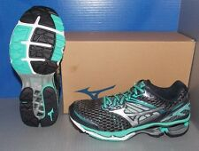 WOMENS MIZUNO WAVE CREATION 17 in colors GREY / SILVER / GREEN-BLUE SIZE 6.5