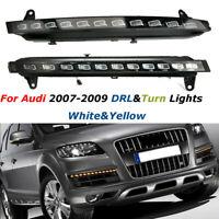LED Feux Jour Diurne DRL Phare Lampe + Clignotants Jaune contrôleur Pour Audi Q7