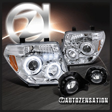 Fit 05-08 Frontier 05-07 Pathfinder Chrome Projector Headlight+Clear Fog Lamp