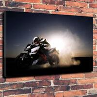 "KTM Duke Motor Bike Printed Canvas Picture A1.30""x20"" x 30mm Deep Wall Art"
