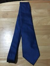 PEACOCKS Gentlemans 100% Polyester Hand Made Blue Tie.