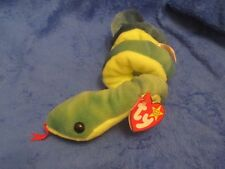 Ty Beanie Baby Hissy Snake 5th generation PVC Filled  Canadian Double Tush Tags