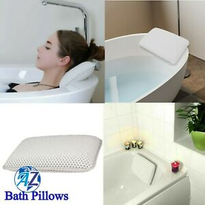 Luxury Waterproof Home Spa Bath Pillow Non-Slip Comfort Bath Cushion UK Seller