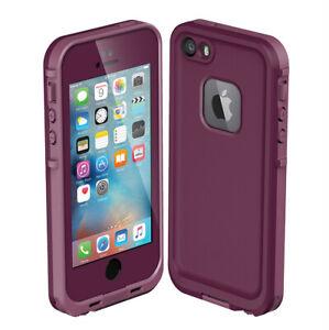 For iPhone 5 iPhone 5s iPhone SE Waterproof Shockproof Hard Case - Purple / Pink