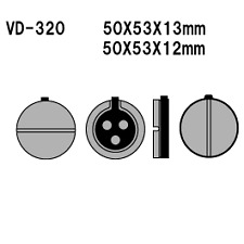 Vesrah Organic Front Brake Pads  VD-320