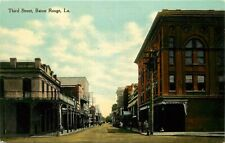 Postcard Third Street Scene, Baton Rouge, Louisiana - circa 1910