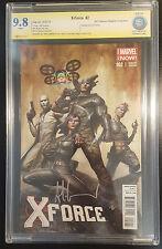 X-Force #2 (2014 Marvel) CBCS 9.8 NM/MT 1:50 Variant Signed Adi Granov Like CGC