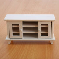 1:12 Casa de Muñecas Mini Muebles Doble Puerta TV Gabinete Almacenaje Juguete