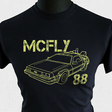 McFly 88 T Shirt Back to The Future Marty Delorean DMC12 Doc Brown Biff Flux Blk