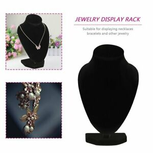 Black Mannequin Necklace Jewelry Pendant Display Stand Holder Show Decorate #7