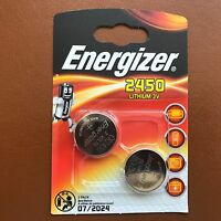 2 x Energizer CR2450 3V Lithium Coin Cell Battery 2450 DL2450