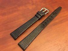 NEW KREISLER WATCH BAND BRACELET - Lizard Calf Leather 13mm 230101-13 Black