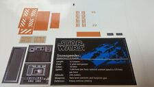 Star Wars Sticker für Lego® 10129 Snowspeeder precut Replacement white
