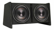 "Precision Power Dual 12"" Vented Car Subwoofer Enclosure w/ Built-In Amplifier"
