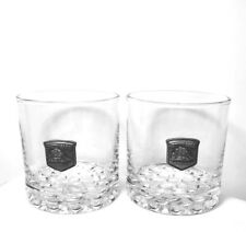 CUTTY SARK Scotch Whiskey The Real McCoy GLASSES •2• PEWTER MEDALLION BARWARE
