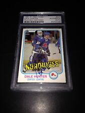 Dale Hunter Signed 1981-82 O-Pee-Chee OPC Rookie Card PSA Slabbed #83704480